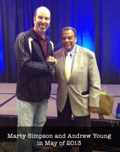 Marty Simpson and Andrew Young